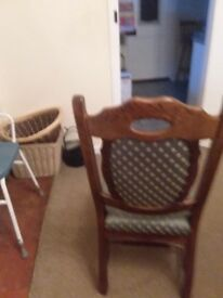 Dining chairs briwn 6 very goid condition