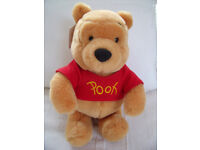 """10"""" tall in sitting pose, Winnie The Pooh soft toy, Disneyland, Paris + tag. £6 ovno. Can post"""