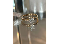NEW 18 CARAT GOLD 1/4ct DIAMOND RING £270