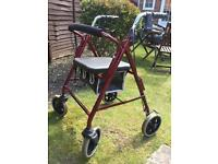 4 wheeled mobility walker with seat (Rollator)