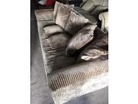 Large Suede Sofa (@07752751518)