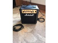 Marshall Amplifier and 3m jack cable