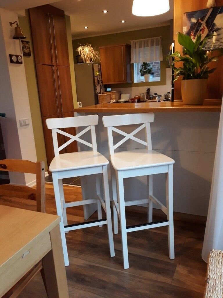 new styles 67fe3 5b074 IKEA, INGOLF Bar stool with backrest White, 74cm | in Sheffield, South  Yorkshire | Gumtree