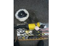 excellent condition dual action sander & polisher with polishing mop head attached included