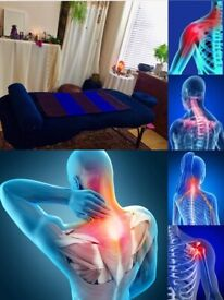 Full body deep tissue massage with focus on releasing back, neck and shoulder pain.