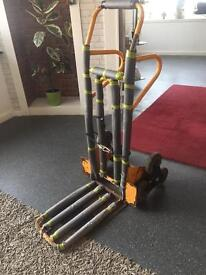 HEAVY DUTY SACK BARROW WITH STAIR LIFT. ALSO DESIGNED AS A TROLLEY IF TURNED ON BACK. GREAT PIECE