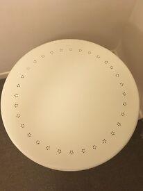 Ikea round white table