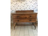 Antique dresser with mirror and drawers