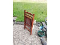 4 x Wooden folding chairs