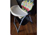 High chair baby feeding chicco
