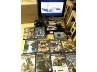 Ps2 Slim Consol + Games/leads