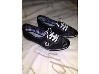 Black Fred Perry Pumps. Never worn. Size 4