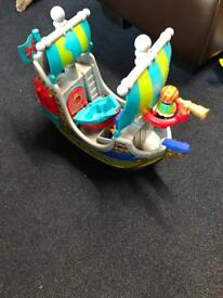 Happy land pirate ship with accessories rrp £40