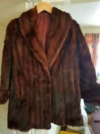 Ladies mink coat and stole