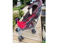Mamas & papas grey and burgundy baby buggy