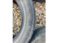 4x part worn tyres size 195/55/R16