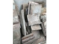 Flagstone paving slabs