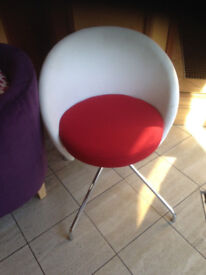 design office chair reception red white design metal cross legs
