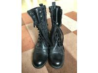 Rebel Hearts Military Style Women's Boots UK Size 5