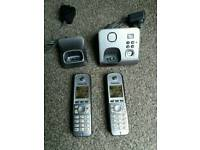 Panasonic Twin Cordless phones KX-TG6721E