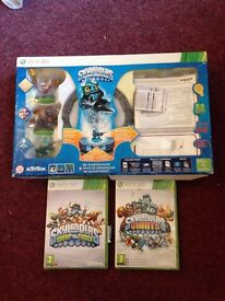 Skylanders portal, 3 skylanders. Skylanders swap force game & skylanders giants game Xbox 360
