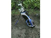 Ram golf bag with full set of clubs etc