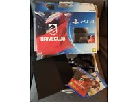 PS4 PLAYSTATION 4 BLACK 500GB EXCELLENT CONDITION + 2 DUAL SHOCK 4 CONTROLLERS + 2 GAMES