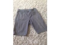Grey with blue check Quiksilver shorts (size 32)