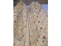 fully lined embroidered curtains