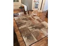 Genuine African hide rug