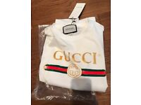job lot: used once Gucci T shirt AND also black real leather belt (sold together)