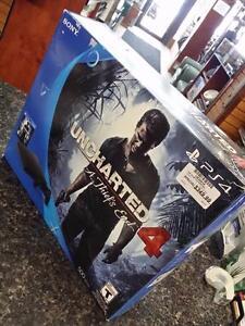 Console PS4 slim neuve version uncharted 4 noir