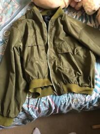 Boohoo size large bomber jacket