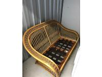 Cane conservatory furniture , 2 seater and 2 chairs