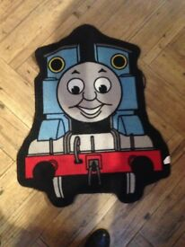 Thomas the tank bedroom bundle,headboard, curtains, mat, lampshade, cushions and night light,clock
