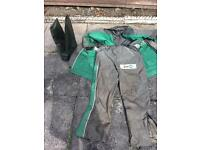 sensas xl fishing suit with size 9 waders