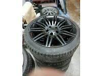 18inch bmw spider alloy wheels 5x120