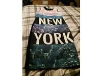 Girls New York dress age 8/9