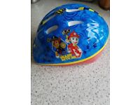 Paw Patrol childs cycle helmet. Size 48-52. Brilliant condition, had no bumps or scrapes