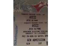 Two Avicii Tickets , Tennants Vital (Friday 26th August)