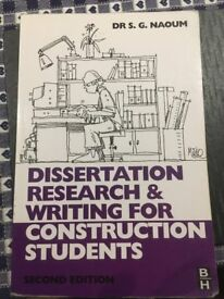 dissertation research & writing for construction students by Dr S. G. Naoum 2nd Ed