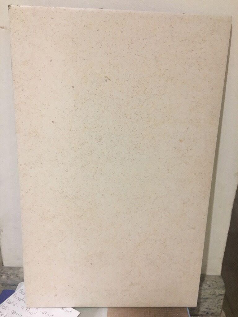 Tiles: 22 x creamy/beige