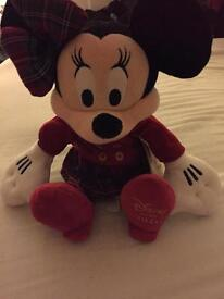 Minnie Mouse Medium Festive Soft Toy 2016 BNWT