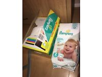 Pampers nappies bundle - LARGE BOX FULL AND 2X PACKS ALL SIZE 2