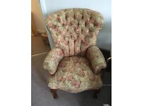 Armchair with button back