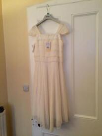 Chiffon dress- junior bridesmaid age 12, wedding