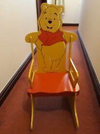 Beautiful Winnie the Pooh Rocking Chair