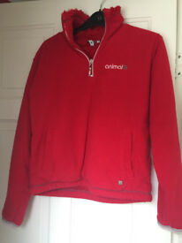 Animal Fleece Red Size 10 with furry inner