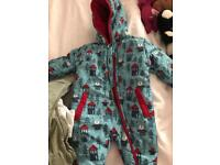 0-3 month baby snow suit