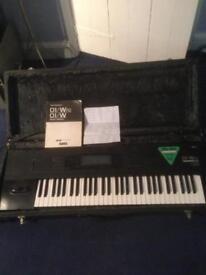 korg 01 wfd synthesizer, keyboard, ex hermans hermits-letter of proof, flightcase,synth, bon jovi